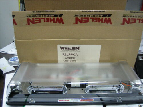 Whelen Amber Responder LED Lightbar R2LPPCA clear dome