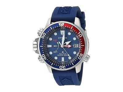 NEW Citizen Men's Eco-Drive BN2038-01L Promaster Aqualand Blue Rubber Watch