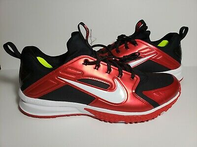 9f6a1b5b555a5 New Nike Alpha Huarache Turf Red Black Baseball Shoes Size 12 923435-016