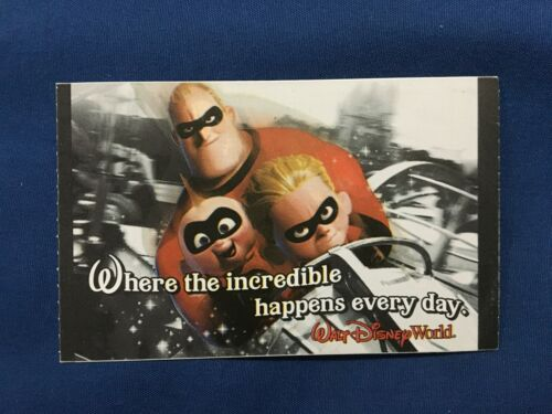 2008 Disney World Theme Park 1 Day Ticket The Incredibles *Nice Condition* i1