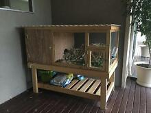 Rabbit Hutch with mini lop rabbit Lower Inman Valley Victor Harbor Area Preview