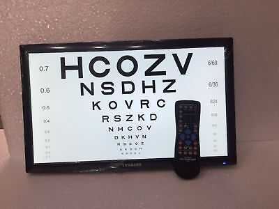 17 Color Lcd Visual Acuity Chart System Optometry Equipment