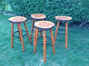 Live edge bar stools