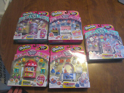 SHOPKINS LOT 5 SET FOOD FAIR & FASHION SPREE BEST DRESSED,BALLET COLLECTION
