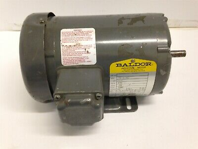 Baldor 13 Hp Ac Motor 575 Volts 3430 Rpm 2p 48 Frame 3 Phase