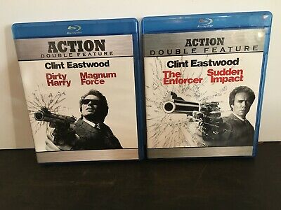 Dirty Harry/Magnum Force/ Enforcer/ Sudden Impact 4-movies Clint Eastwood
