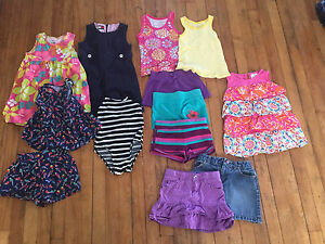 Girl summer clothes - small lot (4t)