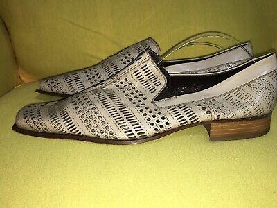 Baldinini Italian Shoes Mens Size 13 Beige Leather Rare
