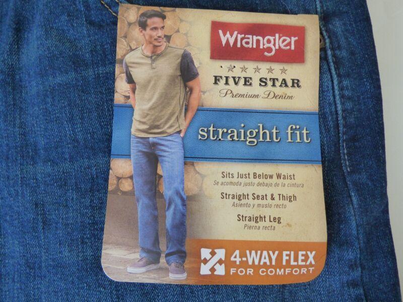 f0e5e4ce Wrangler 5 Star STRAIGHT Fit Jean with Flex Premium Denim Men's ...