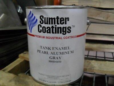Sumter Coatings Tank Enamel Pearl Aluminum Gray Tank Paint 1 Gallon Can