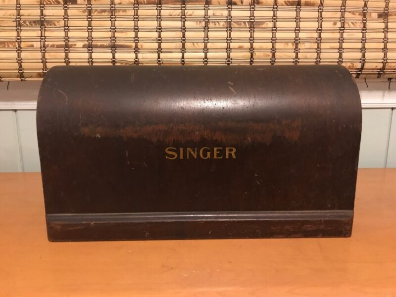 Vintage Singer Sewing Machine Bentwood Dome Top of Carry Case TOP ONLY