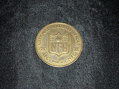 1998 MONOPOLY NFL OFFICIAL LIMITED COLLECTOR'S EDITION AFC NFC BRASS FLIP COIN  - Nfl Coin Flip