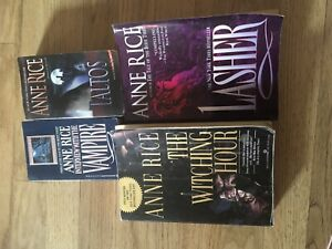 Anne Rice Soft Cover Books, sold as a set or individually