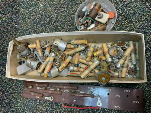 Vintage Capacitors and Other Antique and Ham Radio Parts