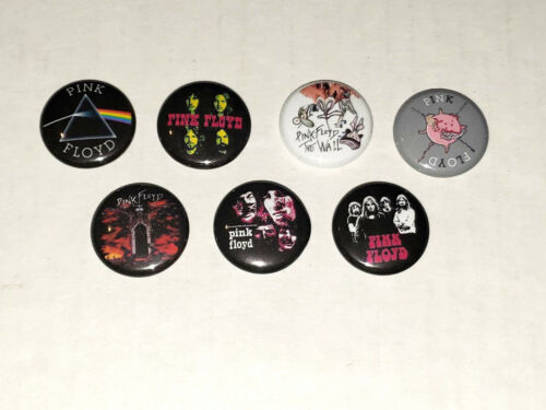 Pink Floyd 1 Inch Button x7 NEW David Gilmour Roger Water LOT A