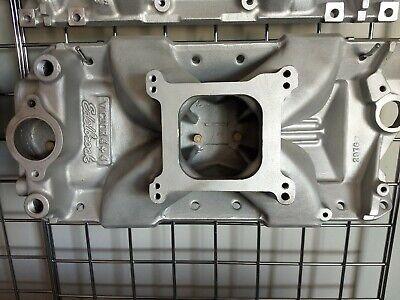 Edelbrock 2976 Victor 4+4 Small Block Chevy 350 400 Aluminum Intake Manifold SBC