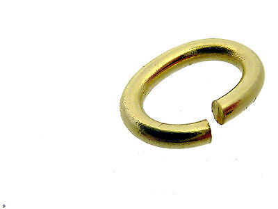 # F134 # BINDERING OVAL 5 mm ÖSE OFFEN 585/000 GELB-GOLD STABIL VOM FACHHANDEL