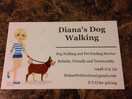 dog walking advertisement