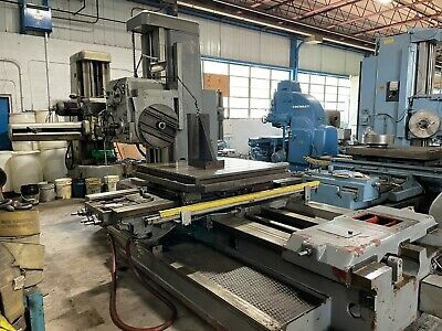 4 Tos Table Type Horizontal Boring Mill W100 Rotary Table Facing Head