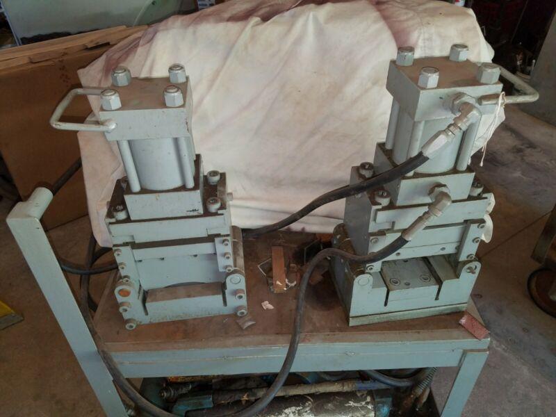 Hydraulic angle channel iron shear ironworker metal fabrication whitney edwards