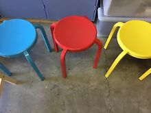 3 colourful steel stools for sale Adamstown Newcastle Area Preview