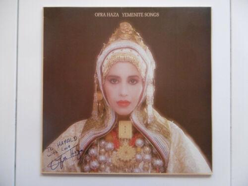 """Ofra Haza Autogramm signed LP-Cover """"Yemenite Songs"""" Vinyl ACOA"""
