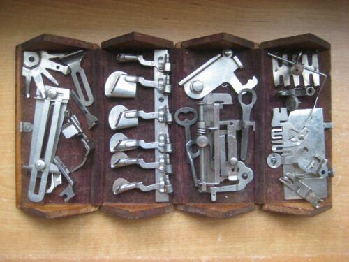 Antique Singer Sewing Machine Parts / Wood Puzzle Box / Pat. Feb 19, 1889