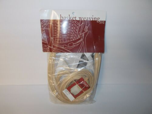"Basket Weaving 101 Kit Sturbridge Basket 11"" x 5.5"" x 5.5"" Complete Kit  2004"