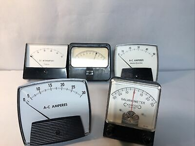 Vintage Mixed Lot Volt Panel Test Meter Gauge Steampunk Simpson Cambosco G E