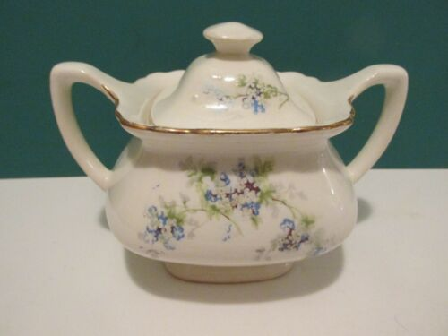 VINTAGE W. S. GEORGE LIDO SUGAR BOWL WITH LID---#297A-----MADE IN USA