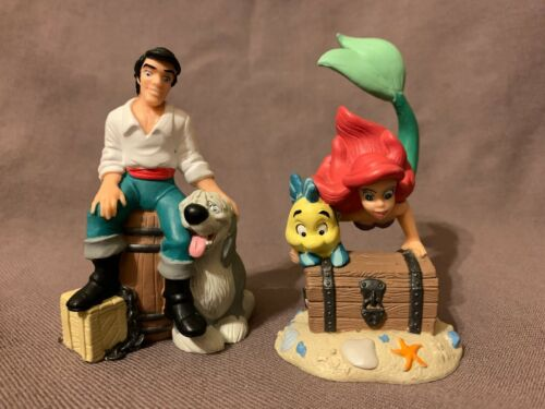 2 Disney Classic Figurines / Cake Toppers from The Little Mermaid