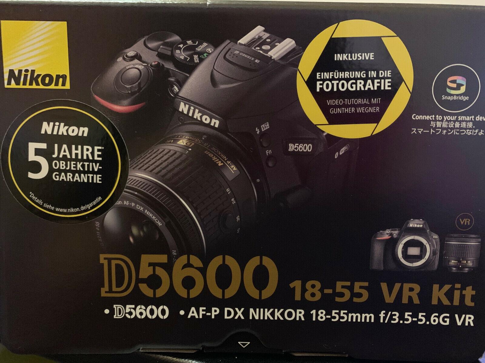 Nikon D5600 Kit Spiegelreflexkamera AF-P DX 18-55 VR 24,2 MP Bluetooth NFC WLAN