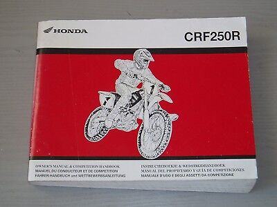 HONDA CRF250R WORKSHOP MANUAL, PART # 3RKRN611