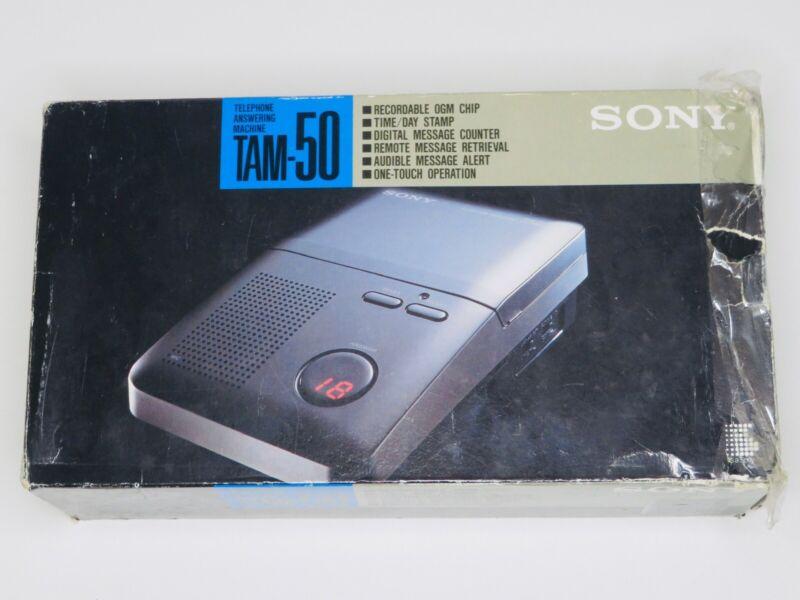 Sony Tam 50 Microcassette Telephone Answering Machine