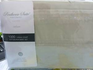 PENTHOUSE SUITE DOUBLE Sheet SET 1500 T/C LIGHT BEIGE COLOUR Minchinbury Blacktown Area Preview