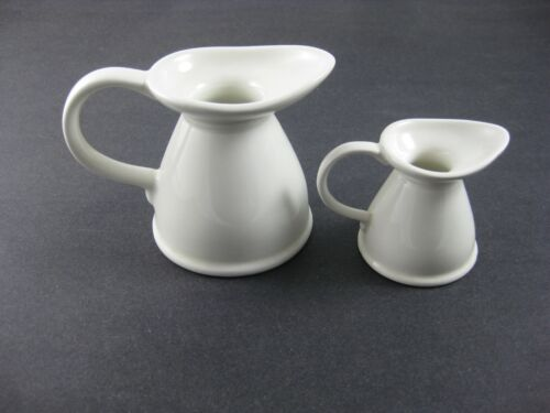 Pair of Lord Nelson Pottery England White Ceramic Creamers