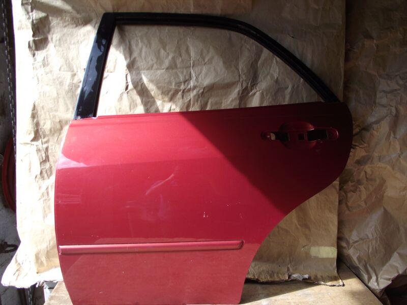 1998-05 LEXUS IS200 PASSENGER SIDE REAR DOOR IN RED - NEXT DAY