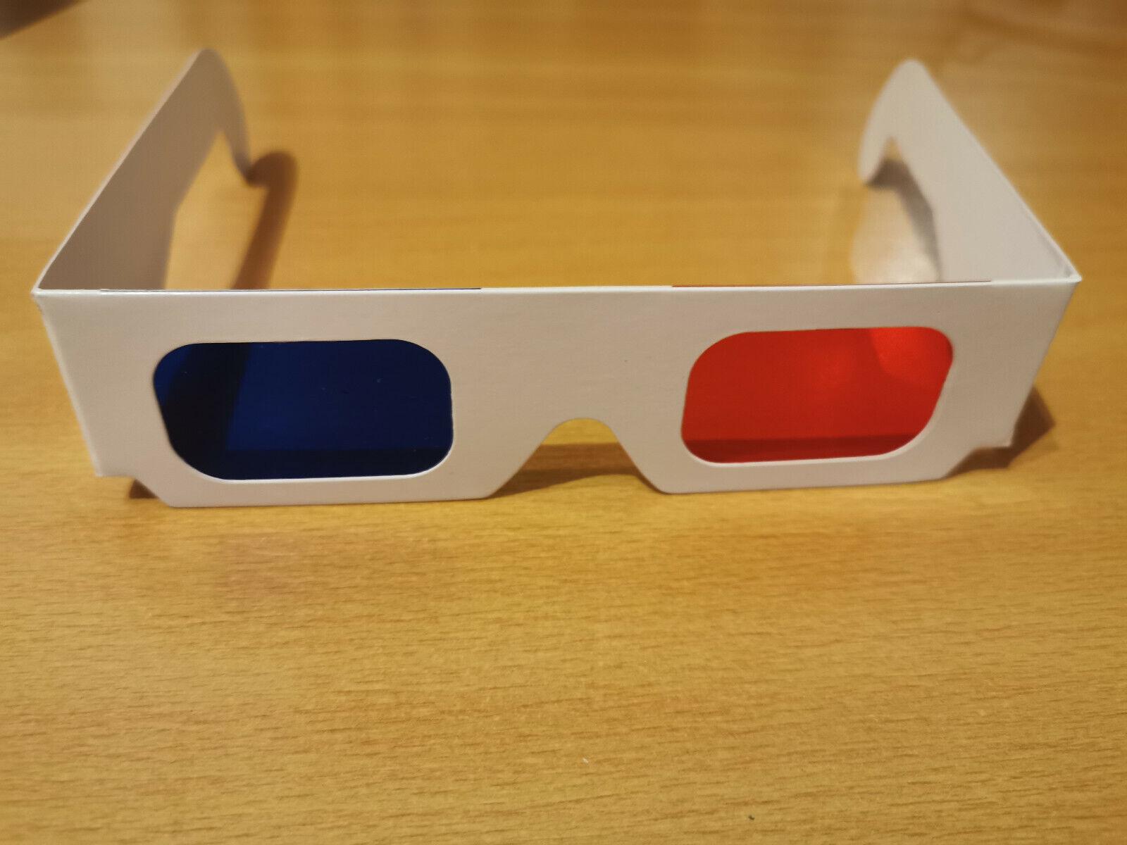 3D Brille rot-blau, Anaglyphen, Stereoskopie, für Filme und Bilder, NEU