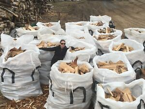 Large Totes of Birch Firewood