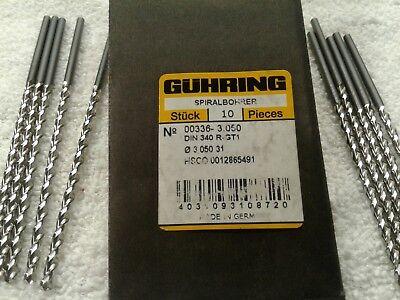 Guhring Spiralbohrer 336 Series 3.050mm Hsco Drill Bits Pkg Of 10