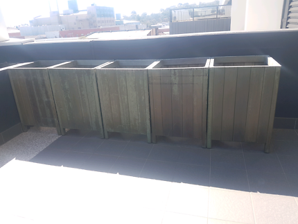 Jarrah Planter Boxes