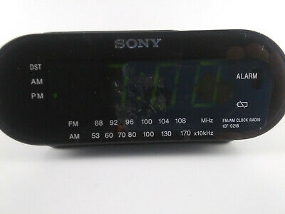 Tested Sony Dream Machine AM/FM Alarm Clock Radio Model ICF-C218 Black