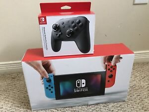 Nintendo switch with pro controller and zelda