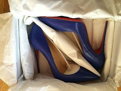 So Kate Christian Louboutin Size 40 Color Pervenche/blue/purple Kid Leather NIB