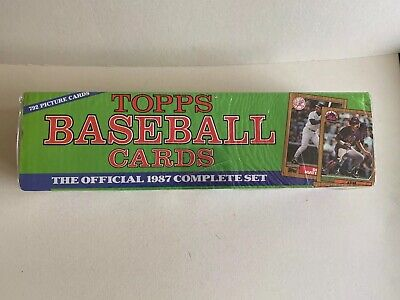 1987 Topps Baseball Factory Sealed Decorative Complete 792 Card Set.          1987 Topps Factory Set