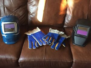 Auto Tinting Welding Helmets and gloves