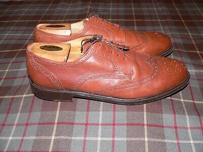 Alfani Brown Leather Wingtip Derby Dress Shoes, Italy, Size 13 M