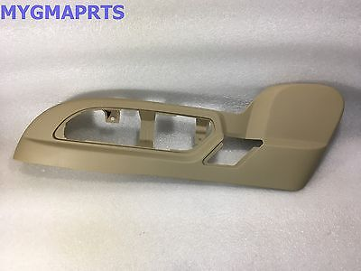 - GMC ACADIA TAN DRIVERS SEAT SWITCH BEZEL TRIM W/LEATHER SEATS 2010-2012 25941790