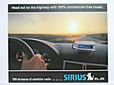 SIRIUS SATELLITE RADIO ADVERTISING PAGES 6/PRINT AD, KENWOOD & AUDIOVOX MODELS