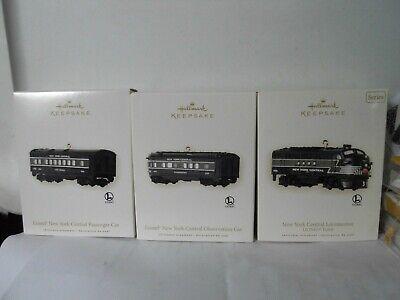 Hallmark LIONEL NEW YORK CENTRAL 2008 Set of 3 Locomotive Observation Passenger